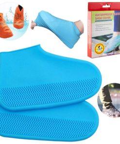 Funda de Silicona Impermeable Color Celeste con Caja para Zapatos