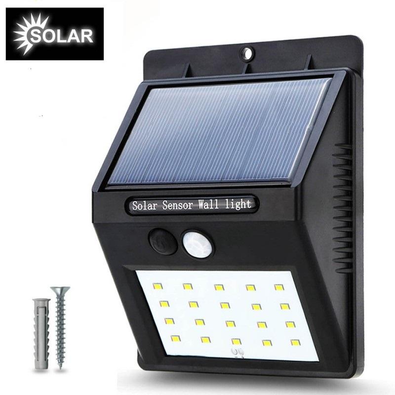 Lámpara Solar con Sensor de Movimiento con Dos Tornillos