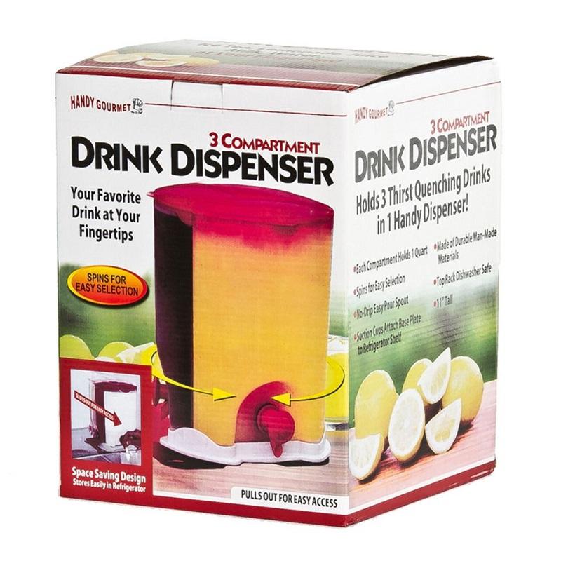 dispensador de bebidas en caja