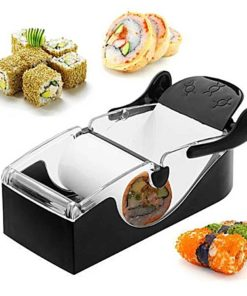 Máquina para Enrollar Sushi Color Negro con Ingredientes
