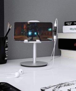 Adaptador de auriculares y cargador color negro uso en iphone mega bahía