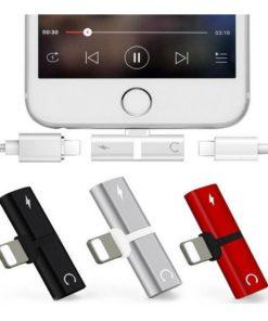 Adaptador de auriculares y cargador varios colores mega bahía