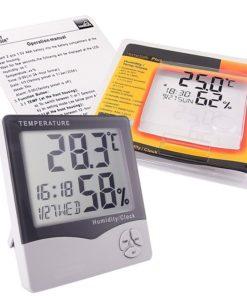 medidor de temperatura y humedad con manual de usuario mega bahía